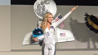 4K画質 ミス・インターナショナル世界大会 アメリカ代表が一人だけ仮装大賞?なぜこうなった?リンゼイ ベッカーさん Miss International 2015 USA Lindsay Becker