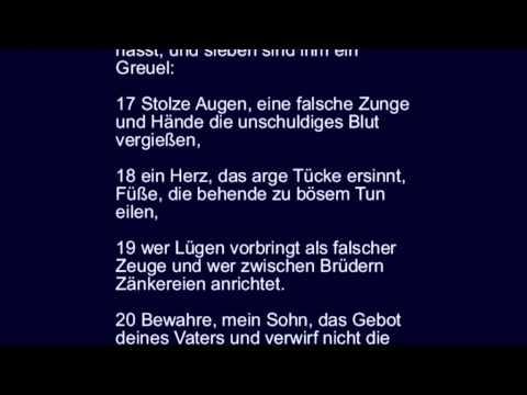 Sprüche 6 - Torheit der Bosheit, Faulheit, Falschheit, des ...