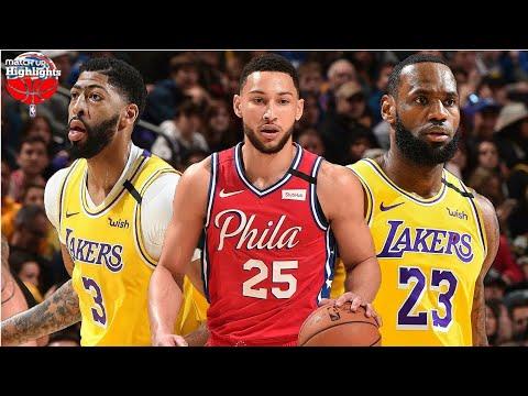 Los Angeles Lakers vs Philadelphia 76ers Full Game ...