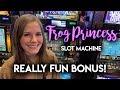 BONUS WIN! First Time Trying Frog Princess Slot Machine ...