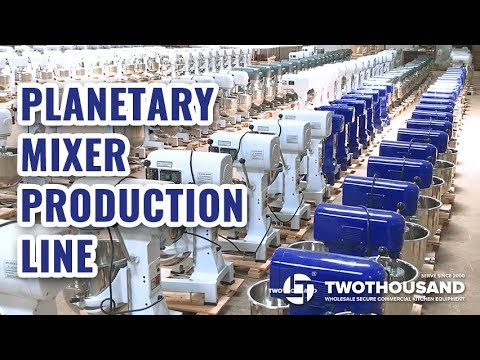 Production Line Of Twothousand Planetary Mixer
