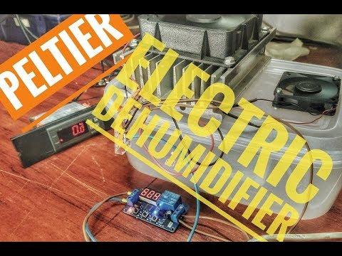 DIY electric air dehumidifier - YouTube