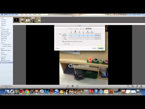 Creating a slideshow and exporting out of iPhoto