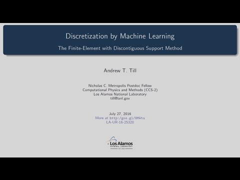 DOE CSGF 2016: Discretization by Machine Learning (and its Application to Nuclear Reactor Simulat...