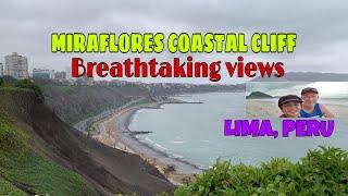 MIRAFLORES  COASTAL CLIFF &  LARCOMAR AT LIMA PERU