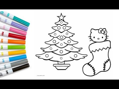 Coloring Hello Kitty Christmas Coloring Pages Kids Fun Picture Colouring Hello Kitty Learn Colors Youtube