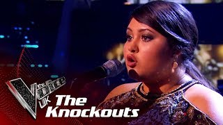 Lucy performs 'Gravity' in Round 1 of The Knockouts on The Voice UK...