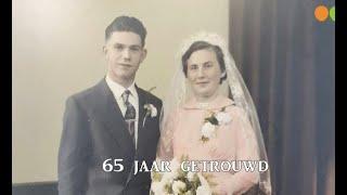 Evert en Hennie ten Hove 65 jaar getrouwd
