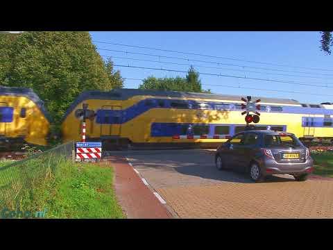 Dutch Railroad levelcrossing - Gestelseweg, Esch, NB, Nederland