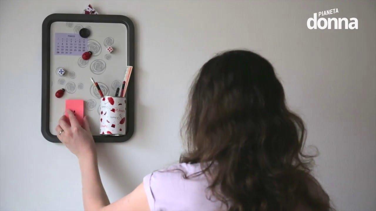 Come fare una lavagna magnetica tutorial youtube - Lavagna magnetica da cucina ...