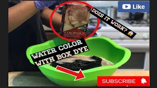 WATER COLOR METHOD using BOX DYE! Does it work?🤔