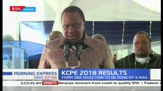 President Kenyatta reveals that there was little cheating in the KCPE exams