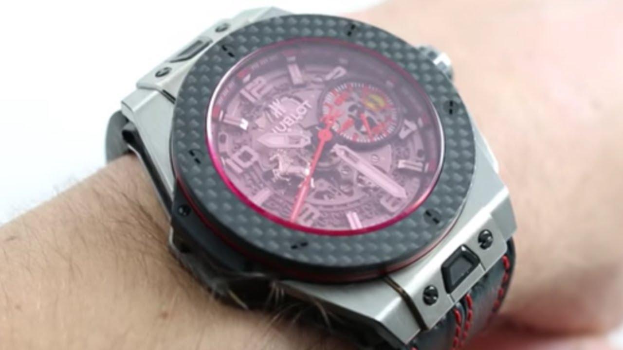 hublot big bang ferrari titanium carbon luxury watch review youtube. Black Bedroom Furniture Sets. Home Design Ideas