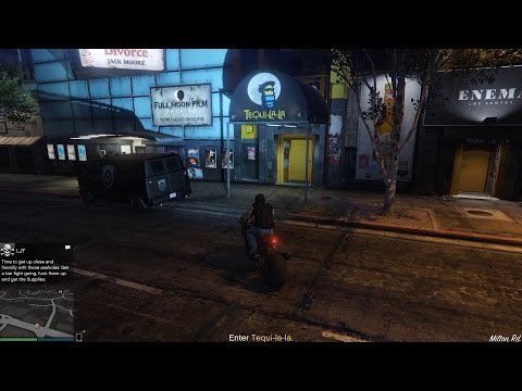 GTA 5 Bikers DLC Glitch - Tequi-la-la Bar Fight (get supplie
