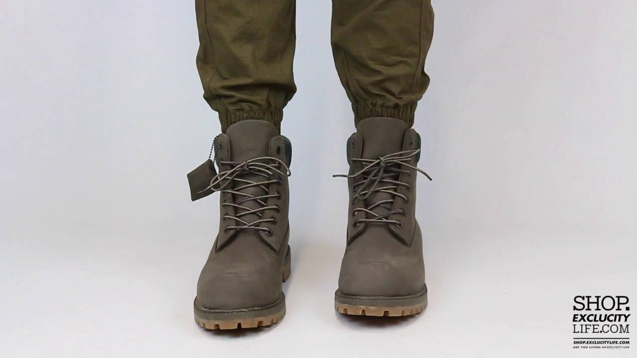 02362839731 Timberland 6 Inch Premium Brown Steen On feet Video at Exclucity ...