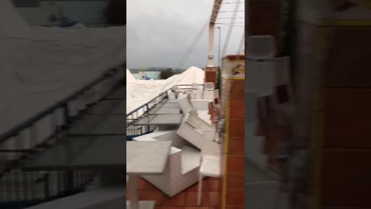 Circolo Canottieri Napoli. Mareggiata dell'11.11.2019