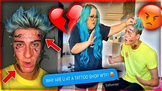 TATTOOING MY FACE To See How My Girlfriend Will React *DIDN'T END WELL*