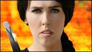 Repeat youtube video Miley Cyrus - Wrecking Ball (Catching Fire)