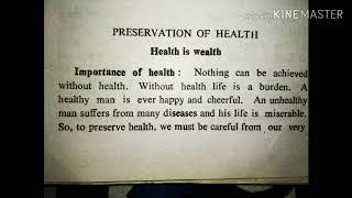 ... , essay on health is wealth in english writing