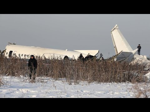 Plane crashes after take-off in Kazakhstan, killing at least 12