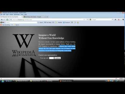 Google and Wikipedia Black out / blackout Fight off American censorship! SOPA PIPA