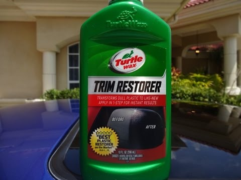 Turtle wax trim restorer review and test on my 2001 honda prelude youtube Black interior car trim restorer