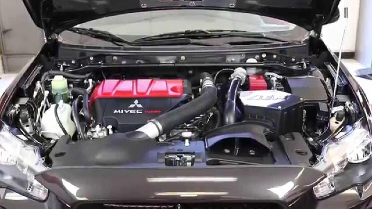 installation of the aem air intake system for the 2008 2014 mitsubishi lancer evolution 2 0l