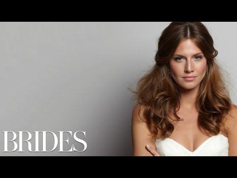 Wedding Hairstyles 101: A Loose, Half-Up Look – BRIDES