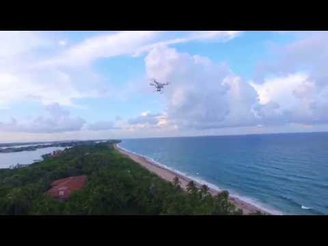 Drone over Boynton Beach inlet with a surprise