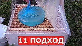корм на зиму / как приготовить сахарный сироп и дать его пчелам в пакетах/ осенние работы на пасеке