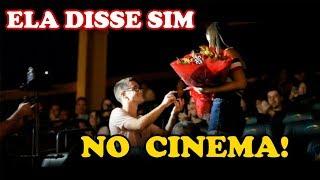 PEDIDO DE CASAMENTO CRIATIVO E EMOCIONANTE NO CINEMA - Anna e Bruno