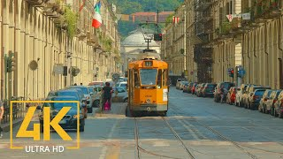 4K Turin, Italy - City Life Video with City Sounds - Top Italian Destinations