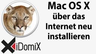 Wie installiere ich OS X neu auf meinem Mac über das Internet