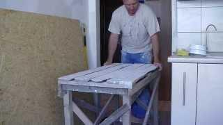 Өз бетімен қалай жасауға жөндеуге арналған үстел
