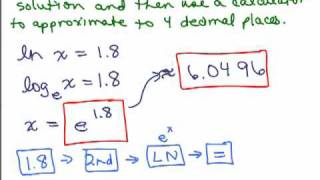 Logarithms 12 - Solve equations with log x and ln x