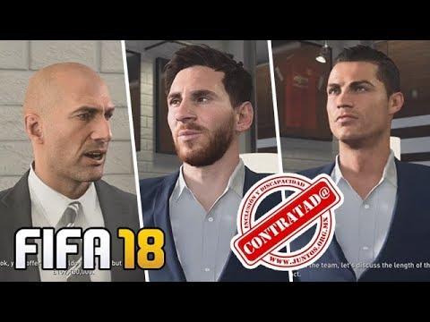 FIFA 18 | CONTRATANDO CR7 E MESSI NO MODO CARREIRA!!