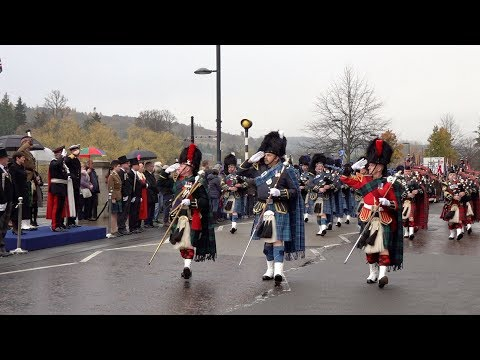 City of Perth, Scotland, Remembrance Day Parade 2018 before Brigadier Sir Melville Jamieson