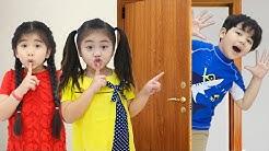 Suri and Annie Pretend Play Hide and Seek Peek A Boo Sing Along Nursery Rhymes Kids Songs