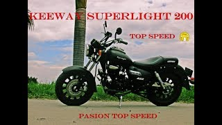 KEEWAY SUPERLIGHT 200 TEST DRIVE (TOP SPEED 115KPH)