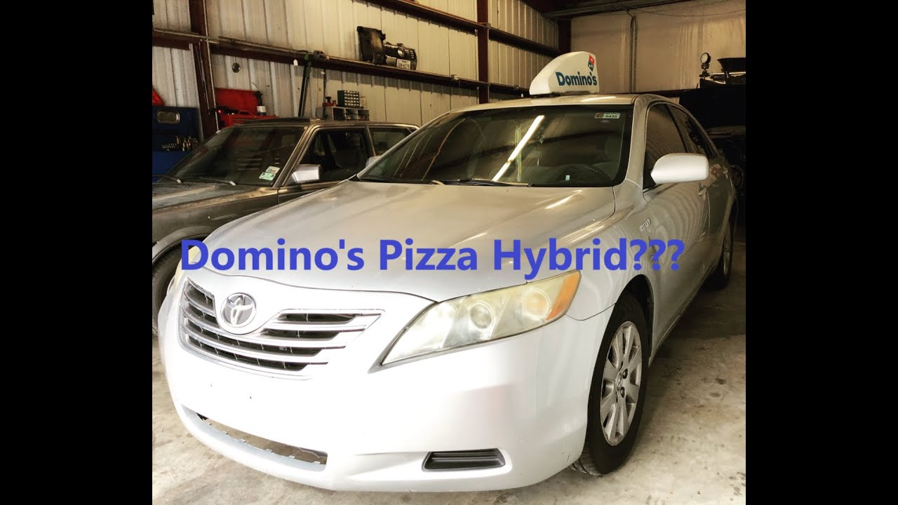 The Domino S Pizza Hybrid 2009 Toyota Camry Battery Removal