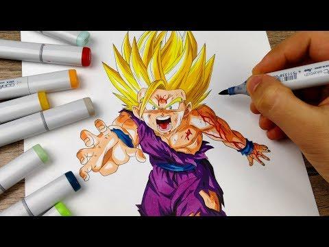 Drawing GOHAN Super Saiyan 2 (Battle Damaged)