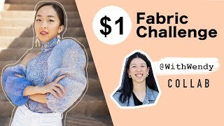 DIY PUFFY SLEEVE BLOUSE | $1 Fabric Challenge WithWendy x Coolirpa