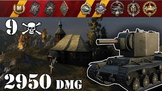 world of tanks kv 2 1 vs 8