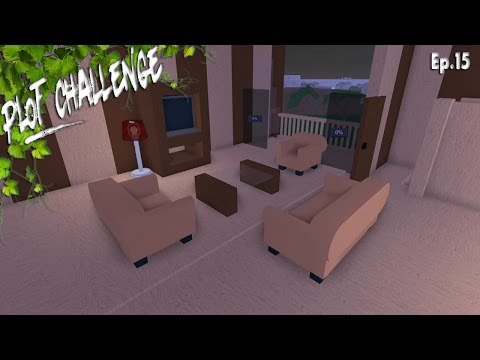 ROBLOX Lumber tycoon 2 (One Plot Challenge!) Ep.15 Making The Living Room!