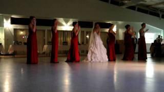 NKOTB bridal party dance
