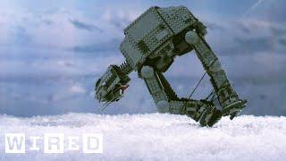 Star Wars Lego AT-AT Takes an Epic Fall at Hoth | Star Wars Lego Destruction