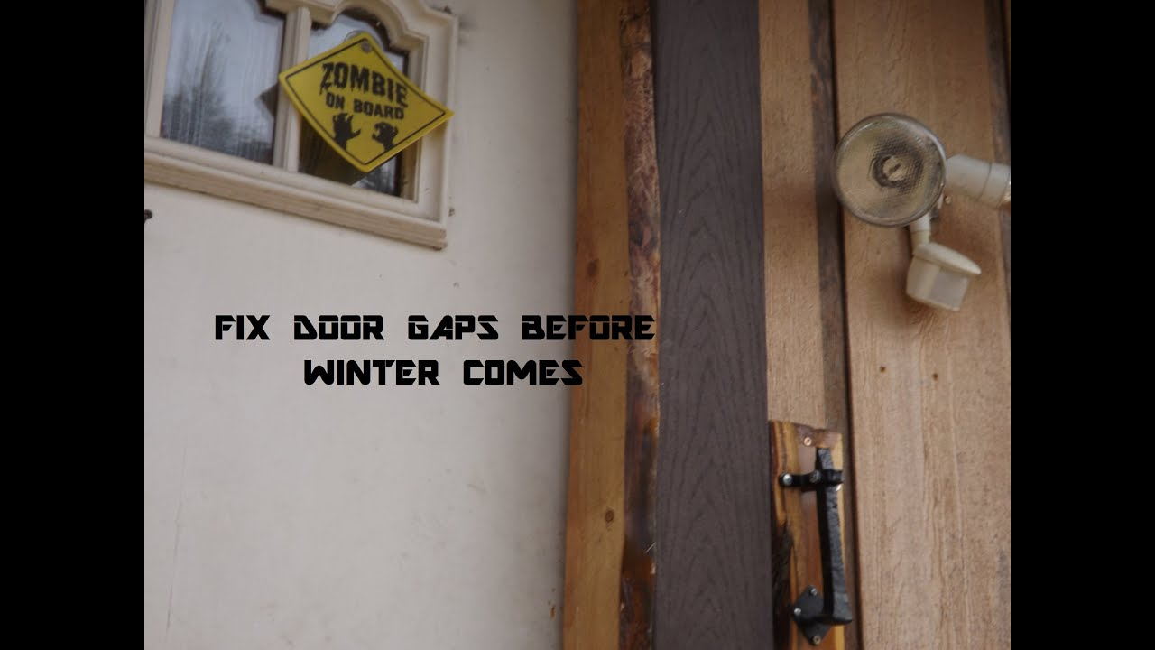 Front door weather stripping has gaps no more youtube for Door gap filler