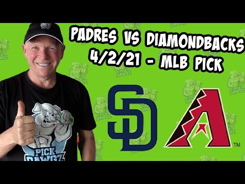 San Diego Padres vs Arizona Diamondbacks 4/2/21 MLB Pick and Prediction MLB Tips Betting Pick