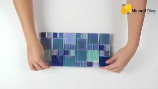 Glass Pool Tile Shimmer Aqua Blue Random-120KEEKELURAAAQSH