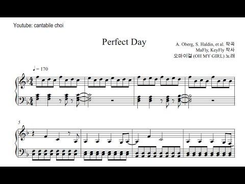 Oh My Girl (오마이걸) Perfect Day Piano Version/Sheet Music (피아노 악보)